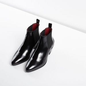 Maje Finae Leather Ankle Boots